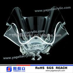 factory wholesale clear acrylic unique salad bowls