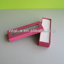 Good quality wooden color metal cardboard pencil in ruler tube box