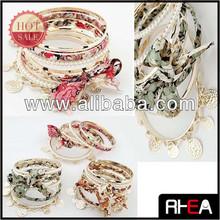 Pear Beaded Bracelet,Iron Bangle.Handmade Bracelet Fashion Bangel Set