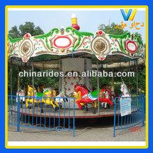 Luxury design kiddie ride machine carousel horse amusement park games factory