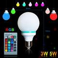 connessione a infrarossi controllo del colore a 16 rgb 3 w 5 w lampadina led di colore
