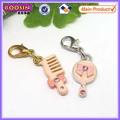 Assorted pente-de-rosa& espelho lindo pingente feito de liga de zinco #14260