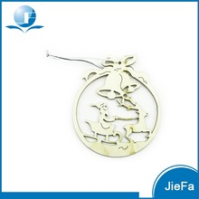 Hot Selling Laser Cutting Wooden Christmas Ornaments