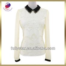 china import long sleeve women's blank white t shirt design