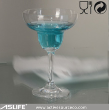 (ASG2707)Mouth Blowing Unique Martini Cocktail Glasses!No Lead Crystal Thick Stem Glass!Unique Thick Stem Crystal Martini Glass