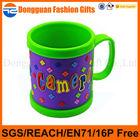 Customized plastic cartoon Promotional PVC Mug for kids