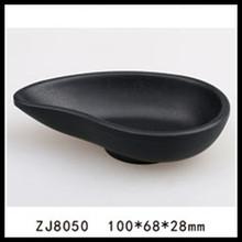 New design frosted black melamine dishes