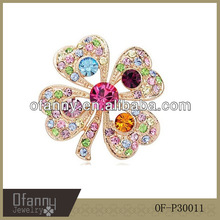 China Wholesale Fashion Flower Making Crystal Brooch