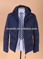 高品質のファッショナブルディープブルー2014年ダウンコート男性用