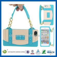C&T 2014 ladies series handbag silicon case for iphone5 cover