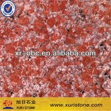 polished multi color ruby red granite stone slab