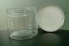 500G 92*83mm wholesale Cosmetic pet jars with aluminium cap HOT SALE