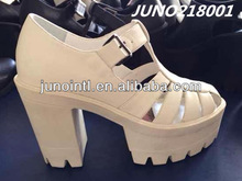 Very Fashion Modern girls sandals high heel high platform white shoes