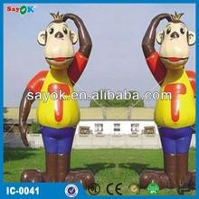 2014new advertising promotional inflatable cartoon monkey