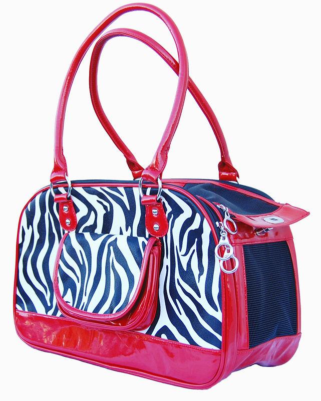 Small Dogs Zebra Print Bag Pet Travel Carrier