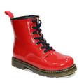 china 2014 venta al por mayor de color rojo de invierno de la patente de cuero de arranque
