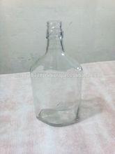 ml 375 diseño triangular vacía botella de vidrio para bebidas alcohólicas