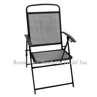 Foldable Wrought Iron Side Pool Chairs