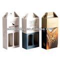 proveedor de china tiene una alta calidad de papel caja de embalaje para el vino en la venta