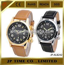 JP Time unisex leather two buttons Japan quartz movement nickel free watch quartz
