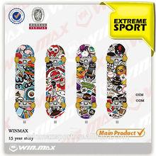 9 Plies chinese double kick maple skateboard
