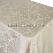 100% polyester jacquard fabric /jacquard tablecloth fabric