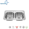 Promotional Stainless Steel Double-Bowl Moduled Stainless Sink (AS8248M)