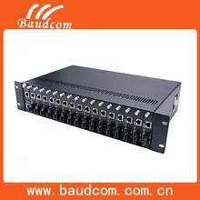Power AC 220V supply managed media converter Rack mount