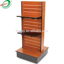 Wooden slatwall Display Shelf