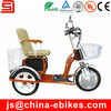 Single seat three wheels electric bike