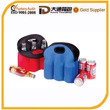 Black 6 pack Washable Portable Neoprene Beer Bottle Cooler Bag six pack cooler bags