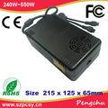 Ce rohs fcc approvazione 12v 350w alimentatori 29a ac dc con adattatore PCIe- 6 pin