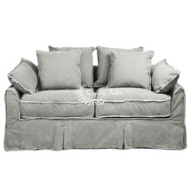 Grey Color Country Cottage Design Sofa