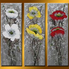 Hot Sell Newest Art Painting Handmade Wholesale Group Flower Painting