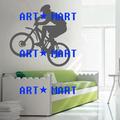 Bmx bicicleta de etiqueta de la pared de deportes de los niños dormitorio para niños pushbike transferencia de vinilo de arte no. 9286