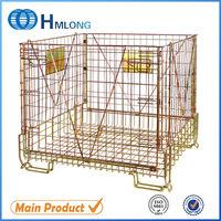 Industrial stackable lockable mobile heavy duty wire basket
