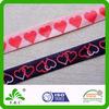 heat transfer printed elastic ribbon with heart design