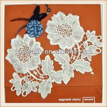 2014 Flower applique /cotton neck collar /neck trims for dresses decoration