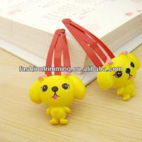 Cute resin dog hair clips for children