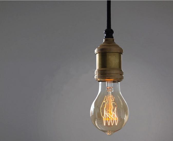 edison lampadina : vintage lampada a sospensione in ottone edison edison lampadina ...