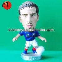 miniature toys plastic football player figurine maker