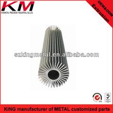 Aluminum Alloy Extrusion Profiles Series Extruded Aluminum Alloy Round Shade Heat Sink Tubes