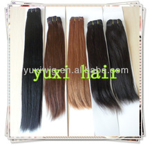 Different color human remy hair extension plus human hair color ring