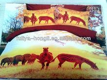 horse design cotton 3d bed cover set