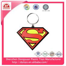 """NEW"" DC comics superman symbol color soft pvc key chain"