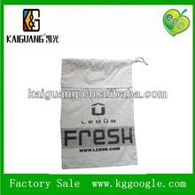 2014 Eco-friendly white drawstring cotton bag wholesales/printed cotton tote bags