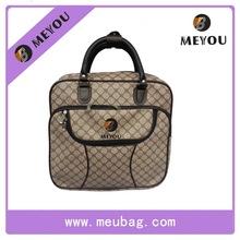the latest fashion design large capacity graffiti square PU travel tote bag&hand bag