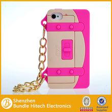 Cute Silicone Purse Handbag Chain Case for iPhone 4 4S, for iphone 4/4s silicon case