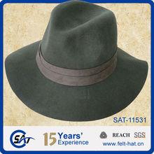 Moss cool fedora hat,100% pure wool