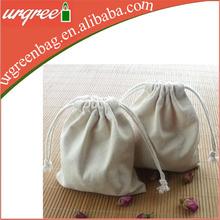 Plain drawstring bag cotton